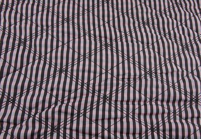 halpa New York kuuma myynti Tepitud kangas vatiiniga (voodriga, ruuduline ) - Kangadzungel