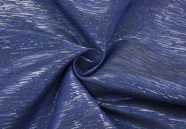 100% laatu uusin kuuluisa merkki Pidulik kangas hõbeniidiga, sinine - Kangadzungel