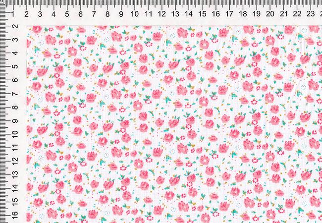 hyviä diilejä huippumuoti katsella Puuvillane kangas, õhem, roosad lilled, laius: 1,58m ...