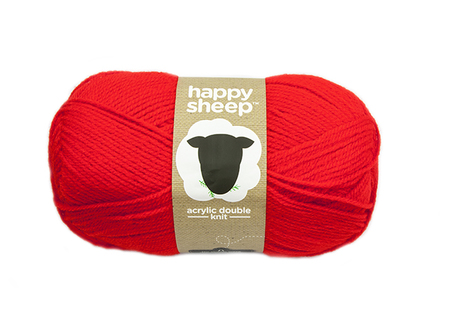 Lõng Happy Sheep, punane, 100g